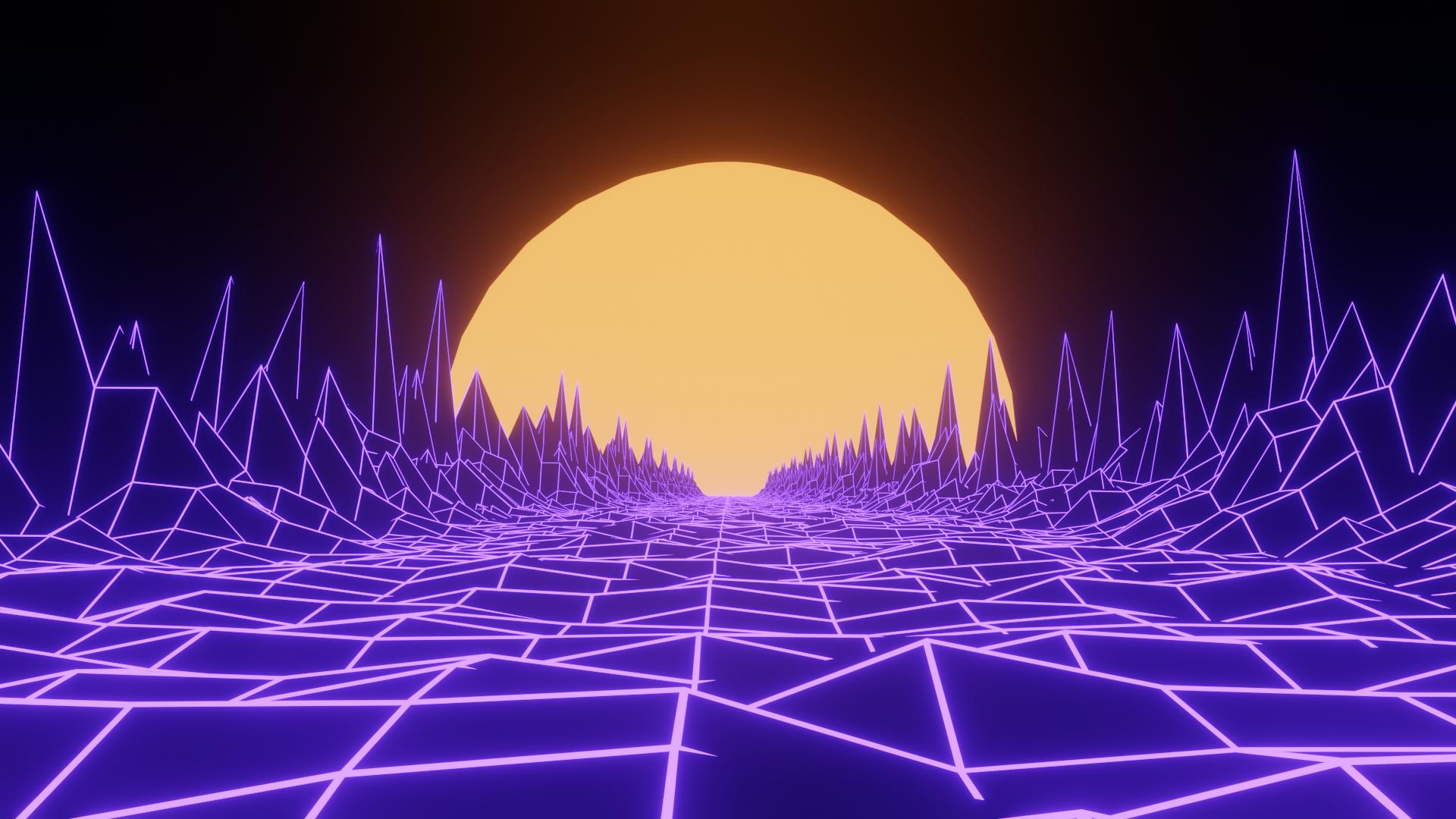 [1920x1080] Vaporwave-y thing I did   Desktop wallpaper ...