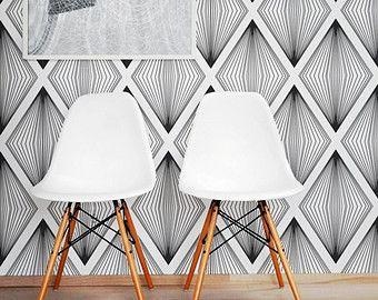 Removable Wallpaper Cube Pattern Geometric Wallpaper Etsy Cube Pattern Removable Wallpaper Leaf Wallpaper