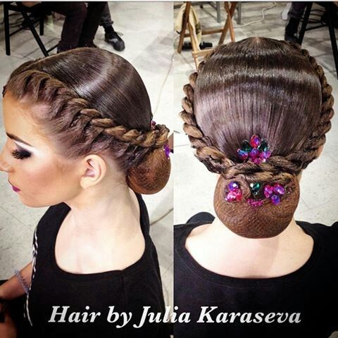 Hawaiian And Jade Stones Dance Hairstyles Dance Competition Hair Competition Hair
