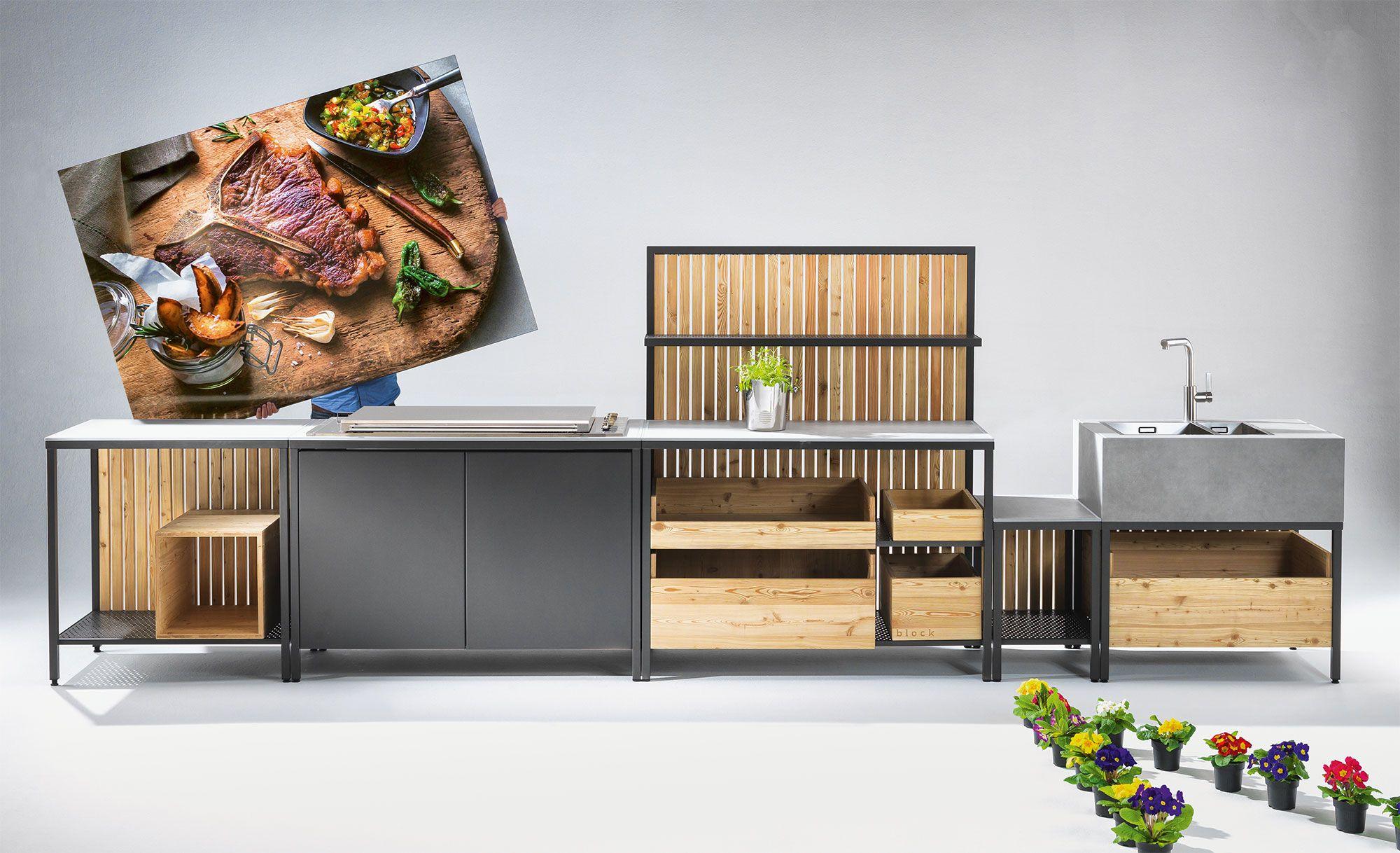 Modulare Küche die modulare outdoor küche mit bewusst einfacher struktur und