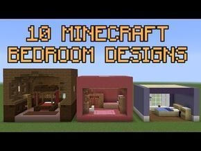 Awesome 10 Minecraft Bedroom Designs!