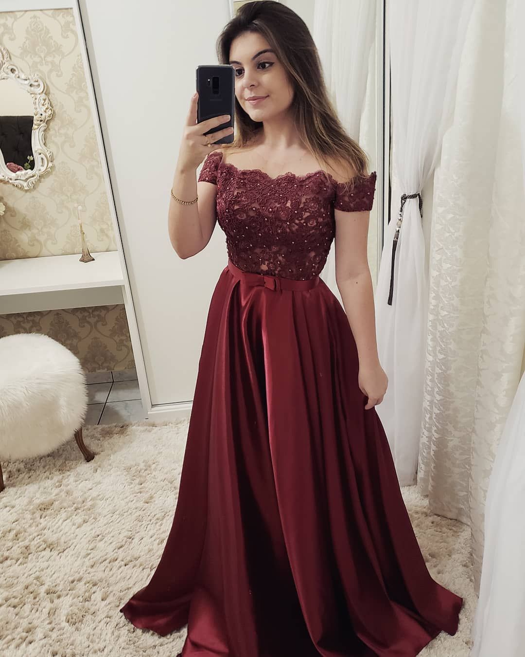 Long Formal Sleeve Evening Dresses Color Vestido Party Evens Gowns,Burgundy,8,Floor Length