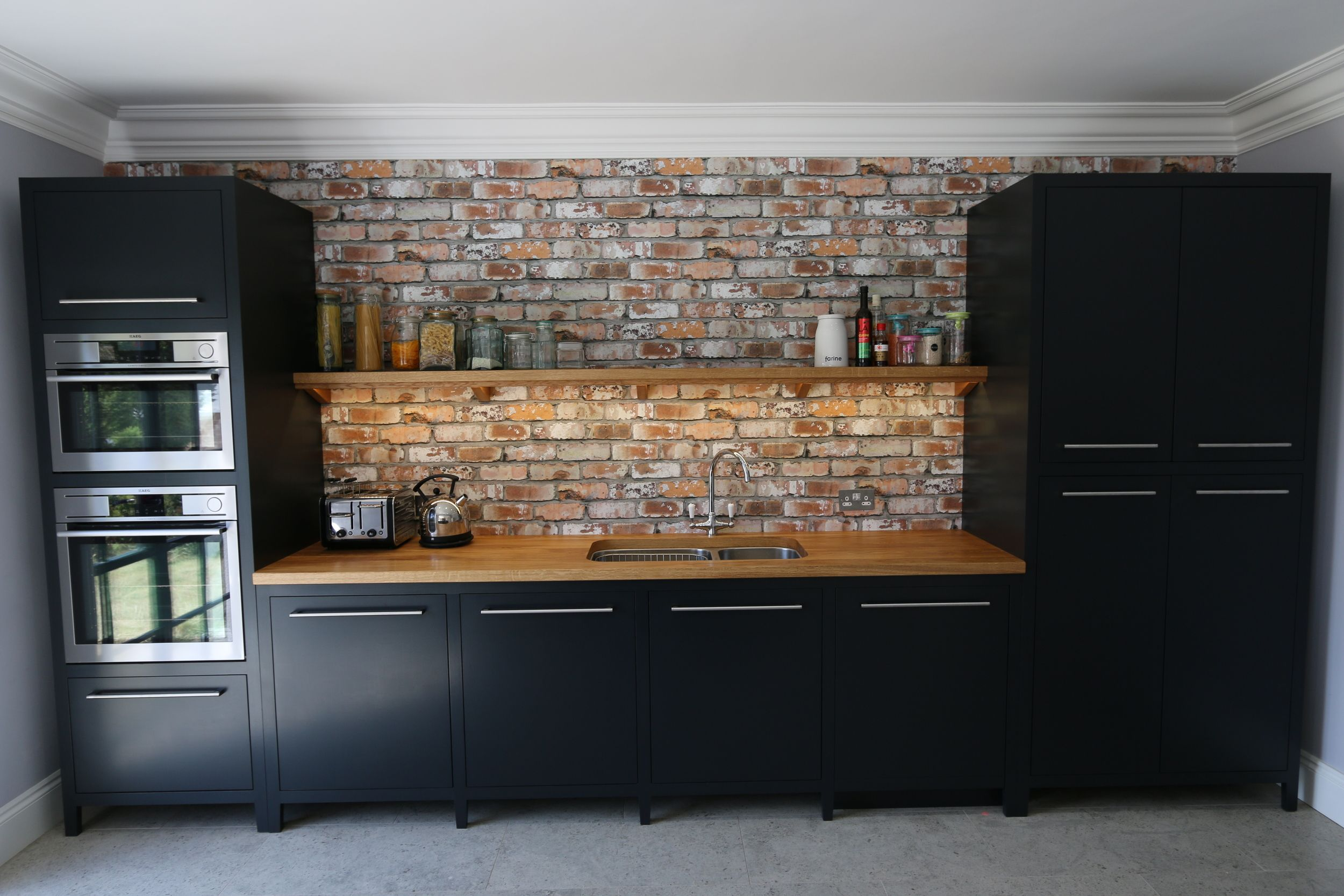 Modern Freestanding Kitchen In Medway Kent Farrow And Ball Off