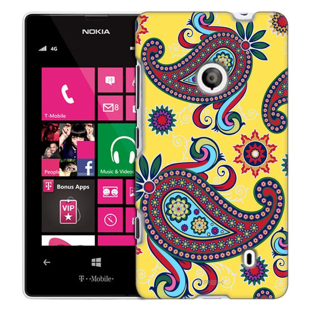 Nokia Lumia 521 Paisley Flower on Yellow Slim Case