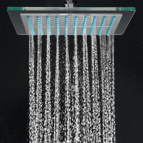 Features Shape Square Chrome Finish Luxury Rainfall Style