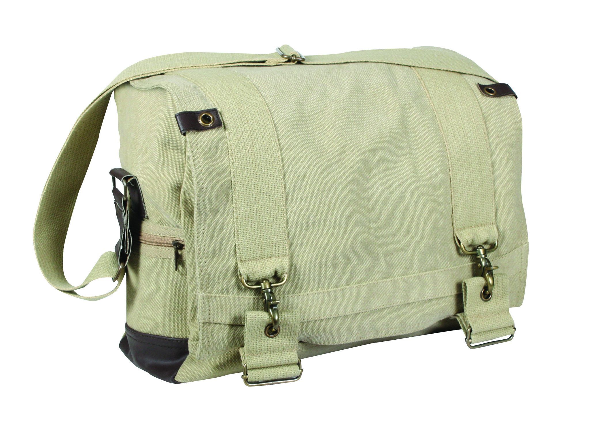 Vintage Canvas B-15 Pilot Messenger Bag