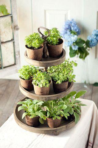Wooden 3 Tier Tray Vintagefarmhousefinds Com Indoor Herb