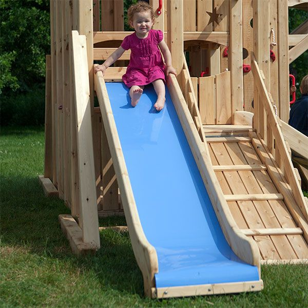 Idea For A Diy Slide Build It Out Of Wood Then Put A Thick Slippery Plastic Over The Wood Diy Playground Playset Outdoor Diy Slides
