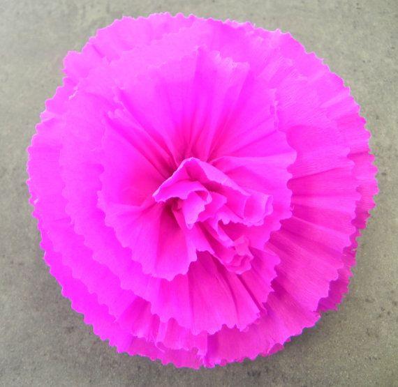 Mexican Crepe Paper Flower Hair Clip Green 5 Diam Cinco De Mayo