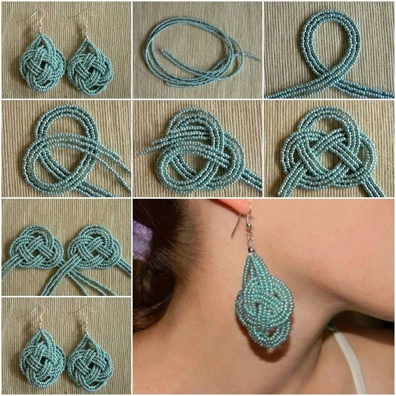 DIY Beads Knot Earrings | DIY Projects | Pinterest | Beads, Craft ...