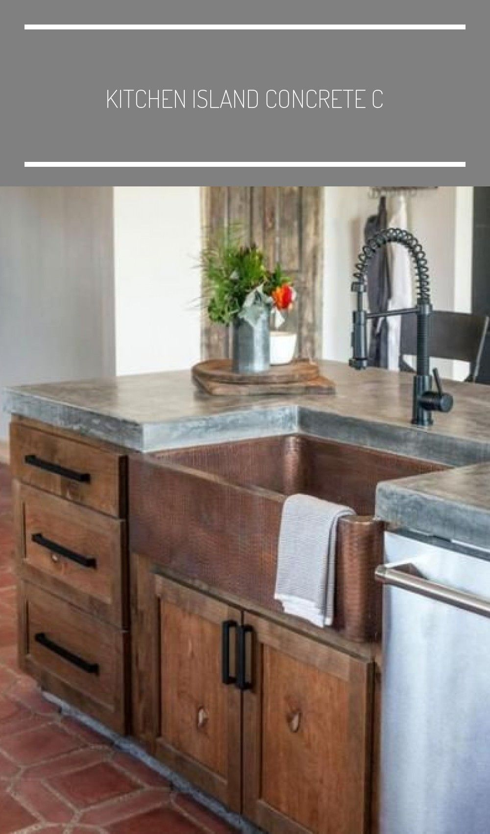 kitchen island concrete countertop farmhouse sinks 17 best ideas farmhouse sink in island k in on kitchen island ideas with sink id=12093