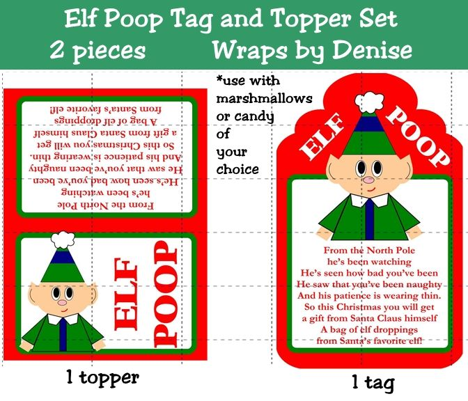 Elf Poop Poem Printable School-Holidays Pinterest