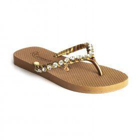 65d3a3a40 Chinelo Ouro Carmen Steffens | Sandálias/Sapatos | Looks, Carmem ...