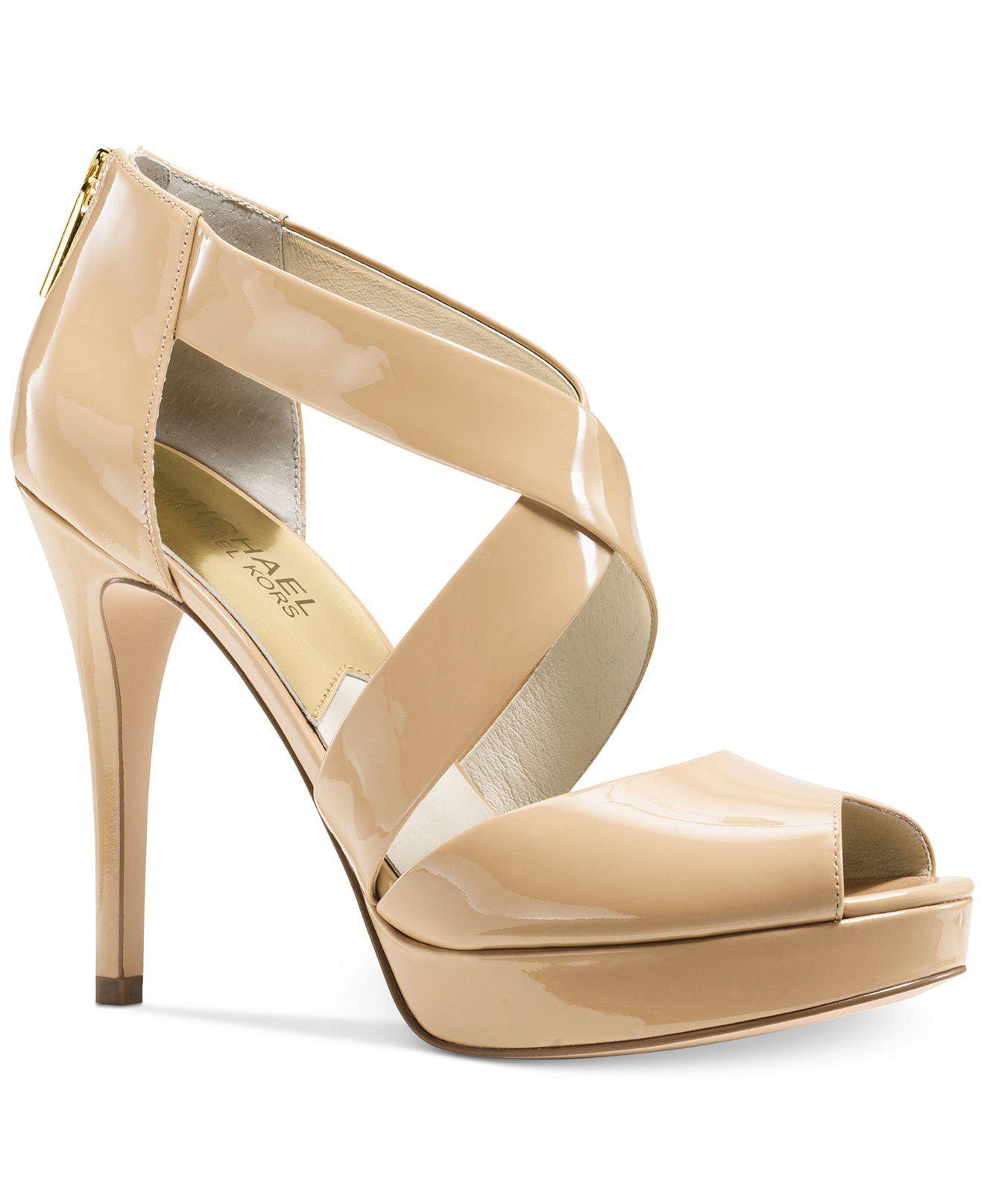 372500a7ddc MICHAEL Michael Kors Ariel Platform Dress Sandals - Sandals - Shoes - Macy s