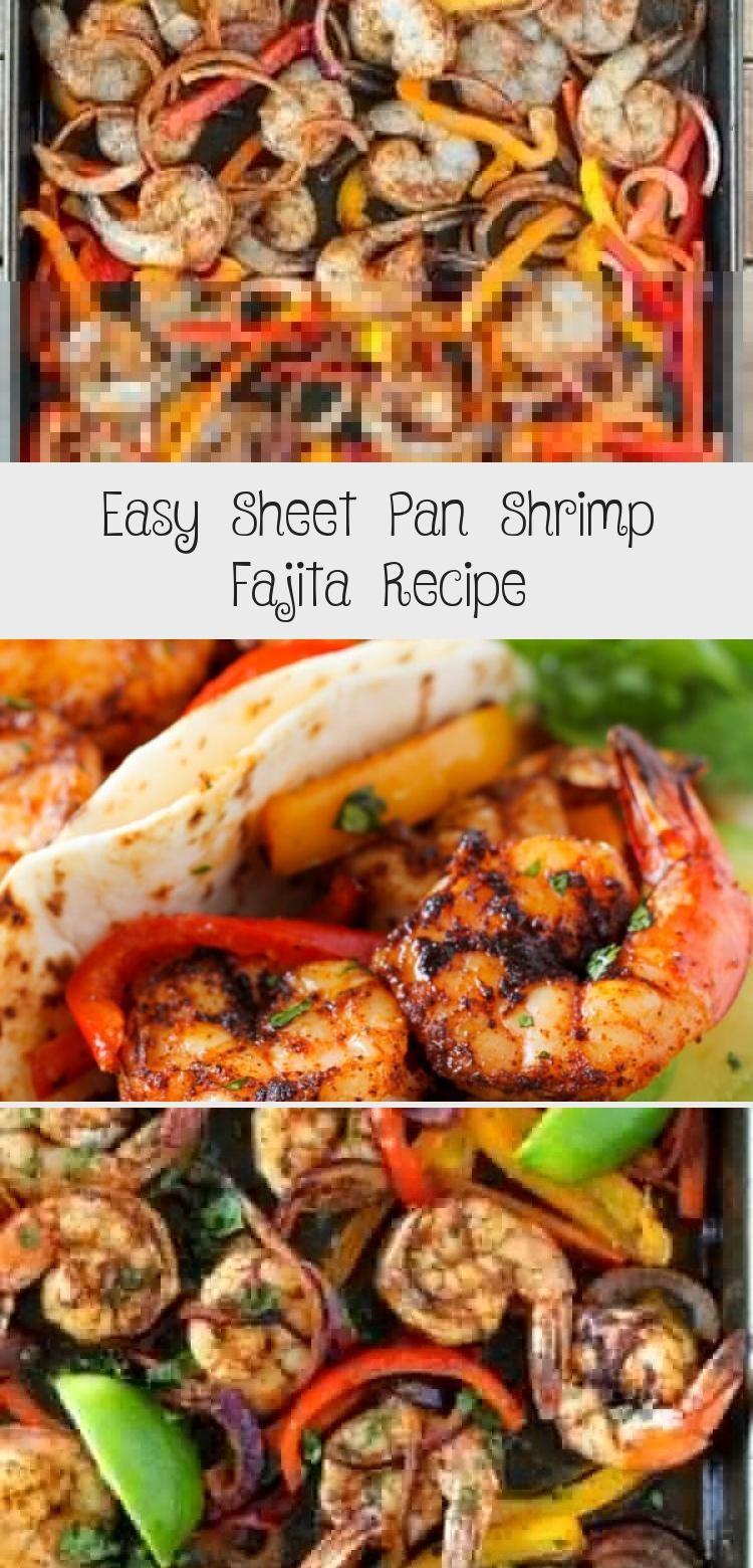 Easy Sheet Pan Shrimp Fajita Recipe #steakfajitarecipe