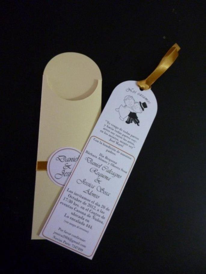 Separadores de libros como invitaciones de boda matrimonio bodas separadores de libros como invitaciones de boda matrimonio bodas chile zankyou altavistaventures Images