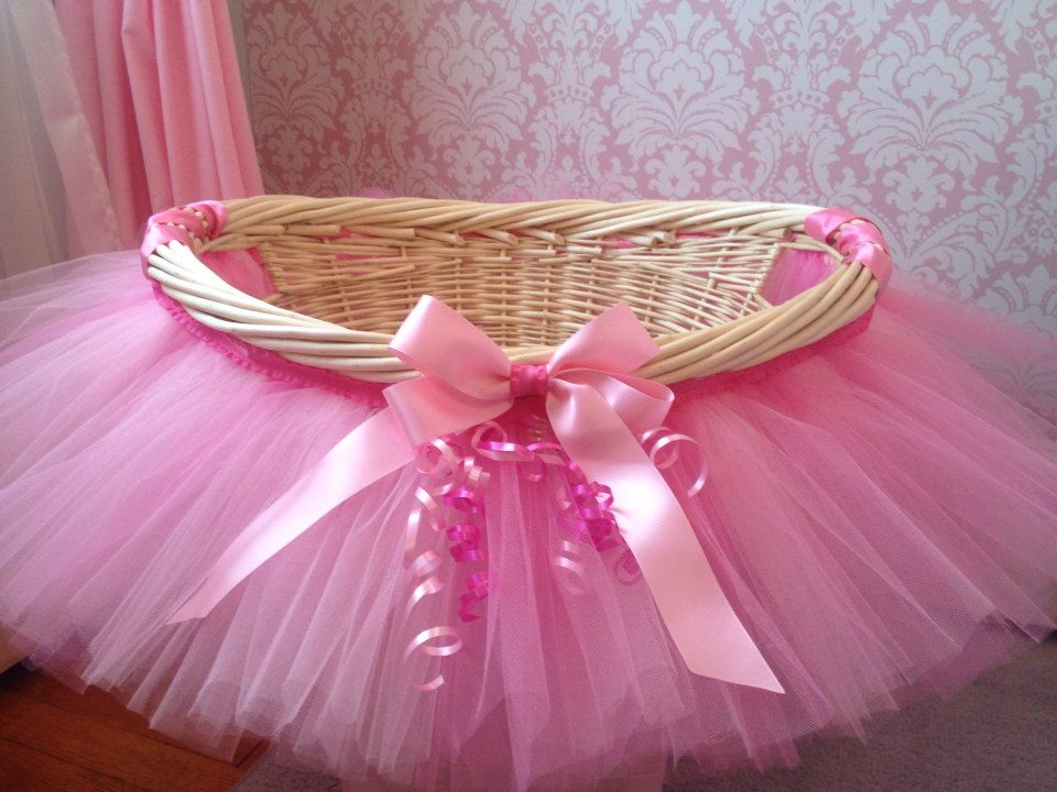 This is so cute for a basket baby shower pinterest babies items similar to tutu basket tutu gift basket tutu baby shower basket tutu easter basket newborn photo prop basket on etsy negle Image collections