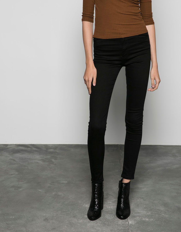 9a1ec2cb91f1 Bershka high waist skinny jeans - Jeans - Bershka Georgia ...