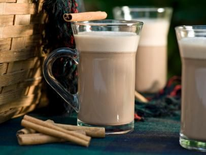 Hot Spiked Cocoa in Glass Mugs