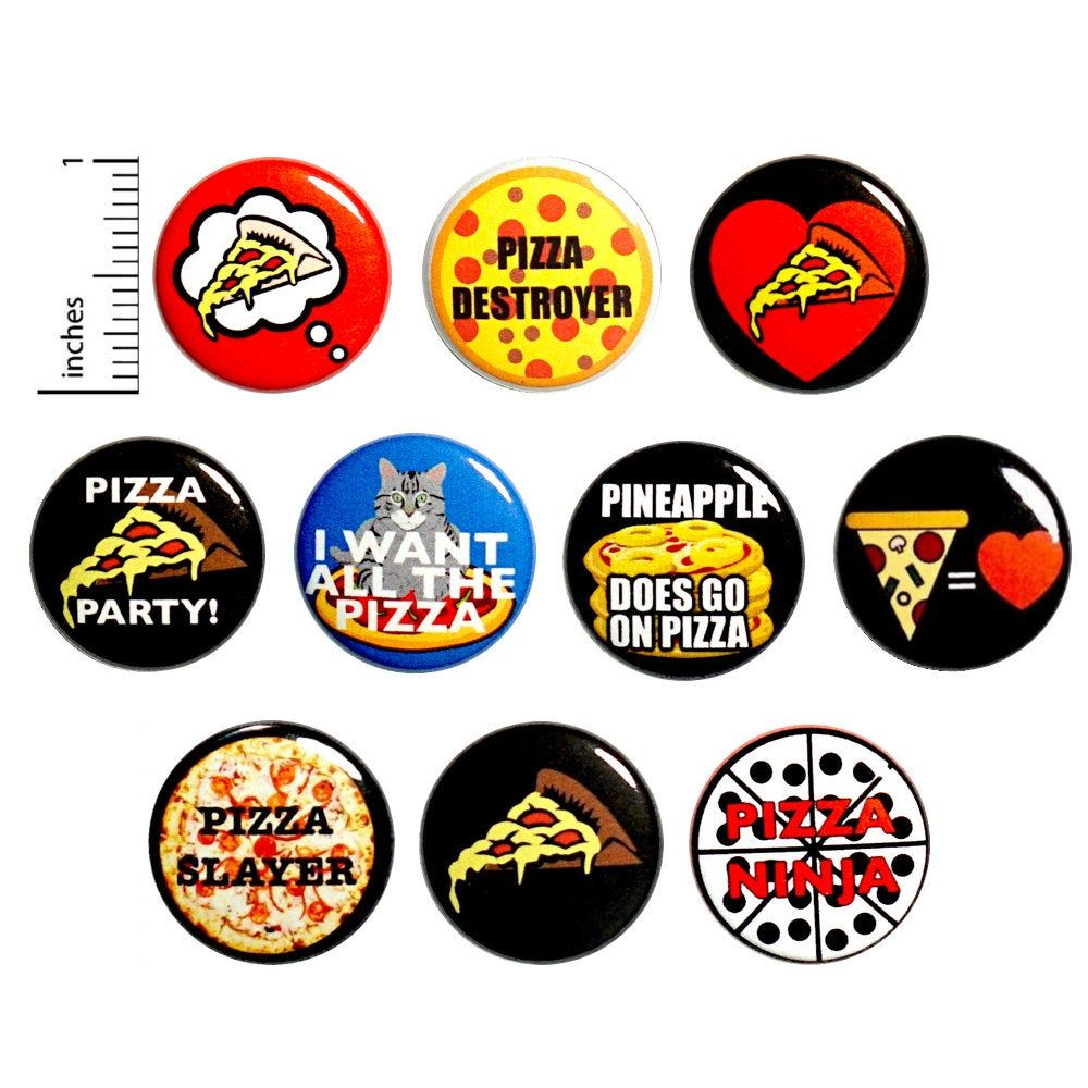 Funny Pizza Buttons Pins For Backpacks Or Fridge Magnets I Love Pizza Pizza Party Pizza Lover Gift Set 10 Pack In 2020 Pizza Funny Funny Pizza Gift I Love Pizza