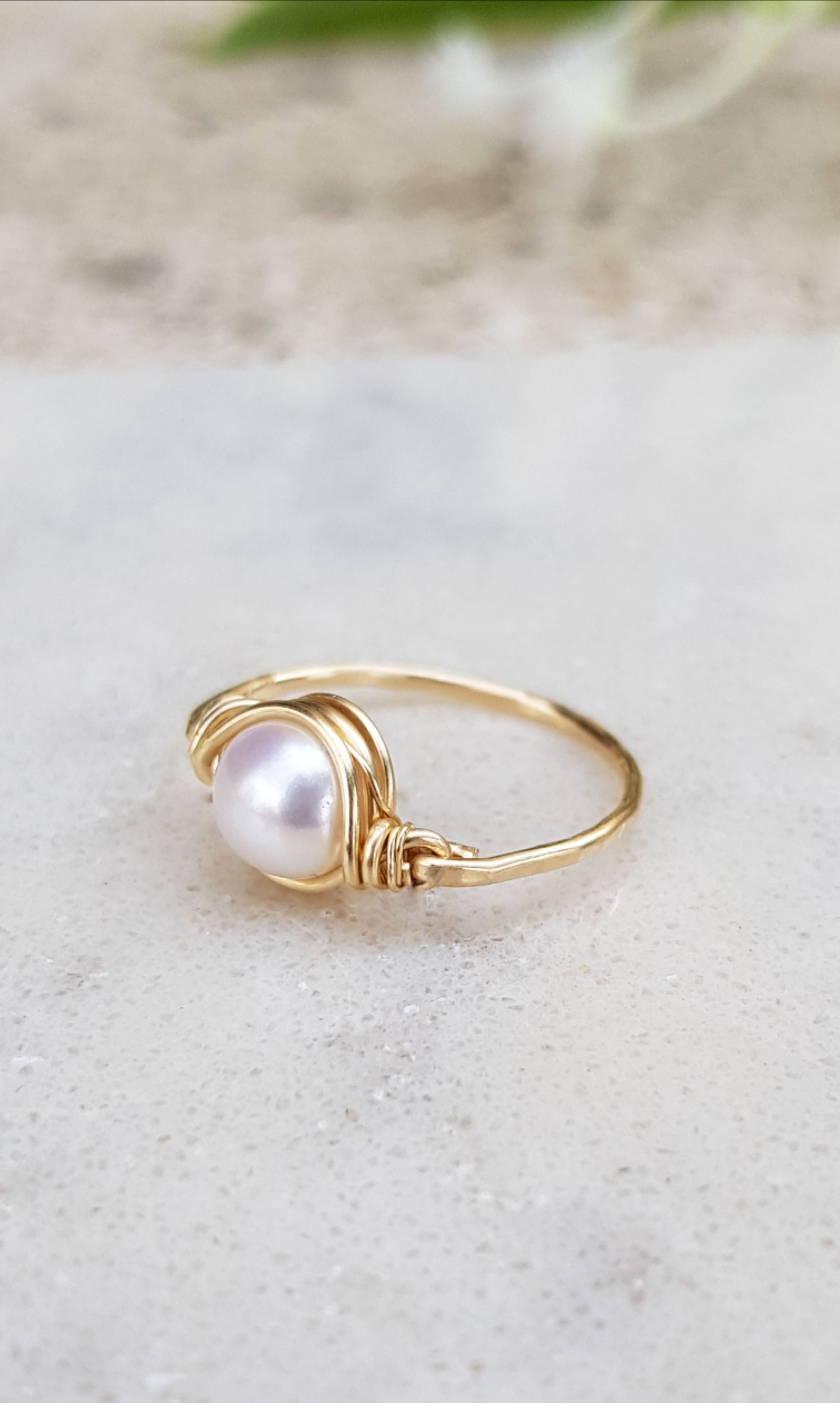 June Birthstone Vintage Ring Handmade Ring Pear Ring Pear Stone Ring Fresh Water Pearl Gift For Her Gemstone Ring Bohemian Ring