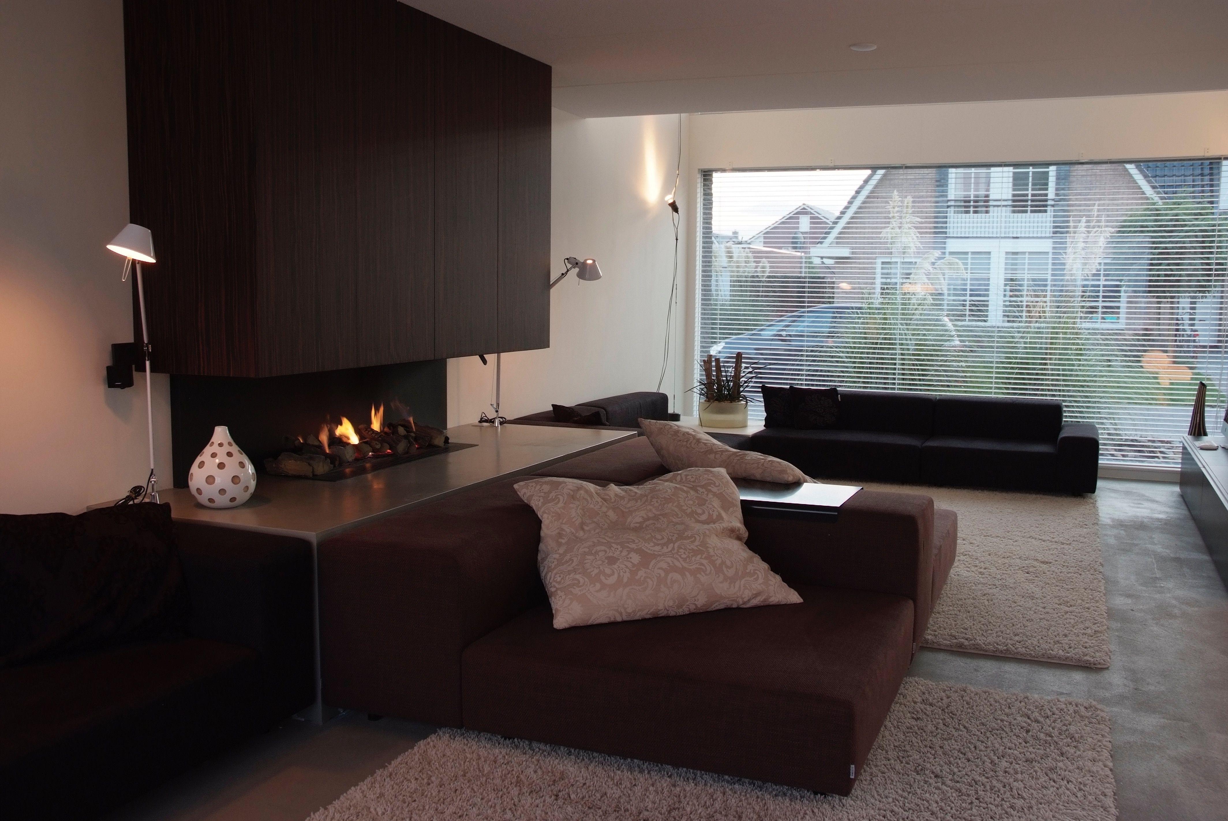 interieurdesign / woonkamer / haard / maatwerk / living ...