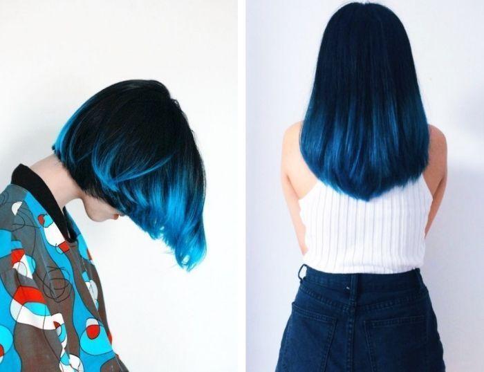 Épinglé sur Coiffure Bleu