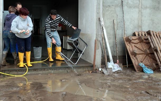 #Ortonovo - danni alle strade, alla dogana e in vari scantinati della cittadina.