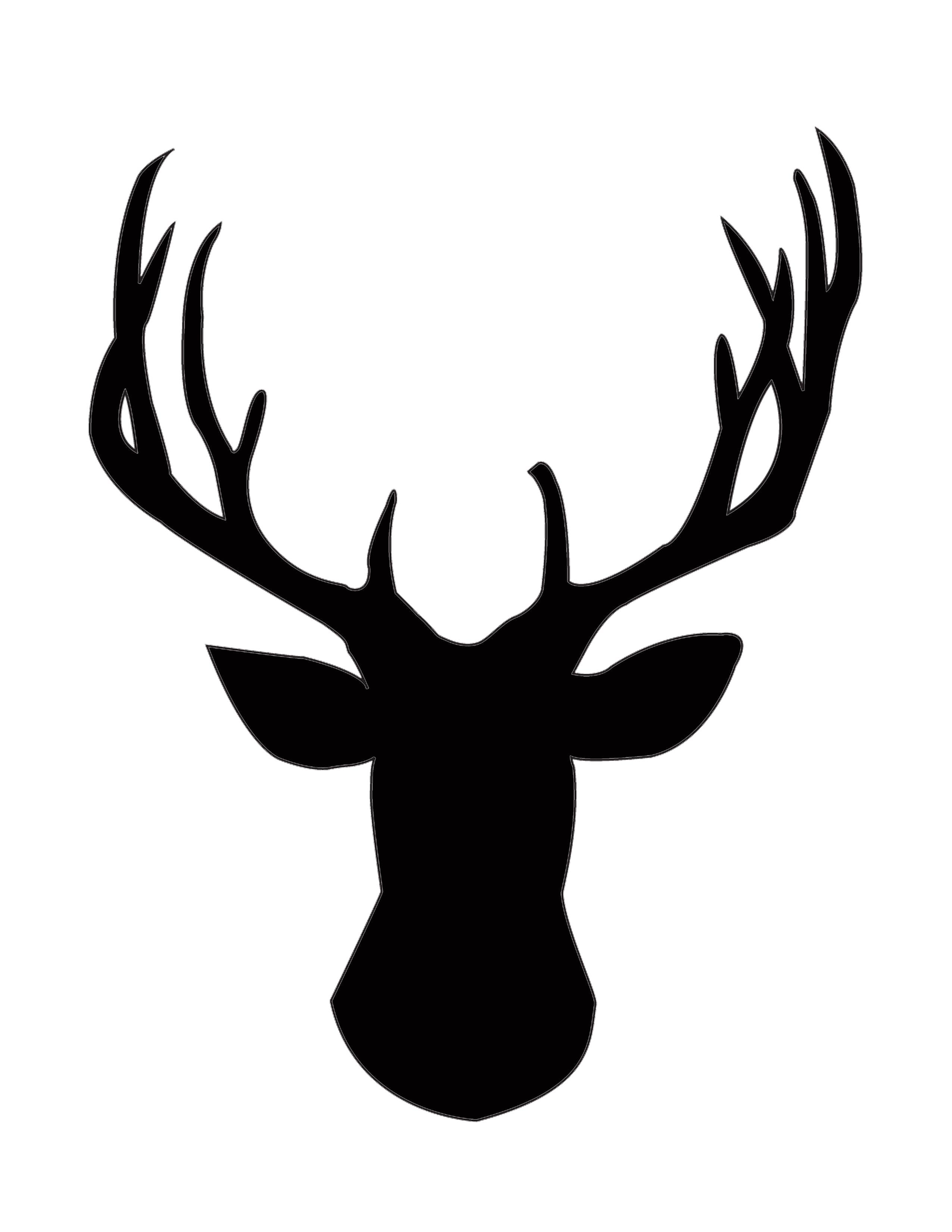 Christmas Deer Silhouette Google Search Deer Head
