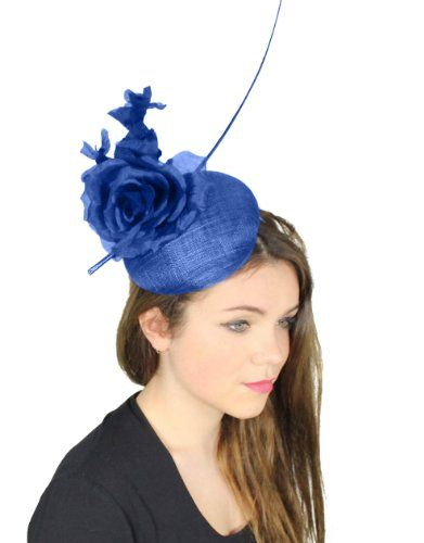 Hats By Cressida Modernista Sinamay Ascot Fascinator Hat Women s With  Headband - Royal Blue Hats By 60e4a15f26b