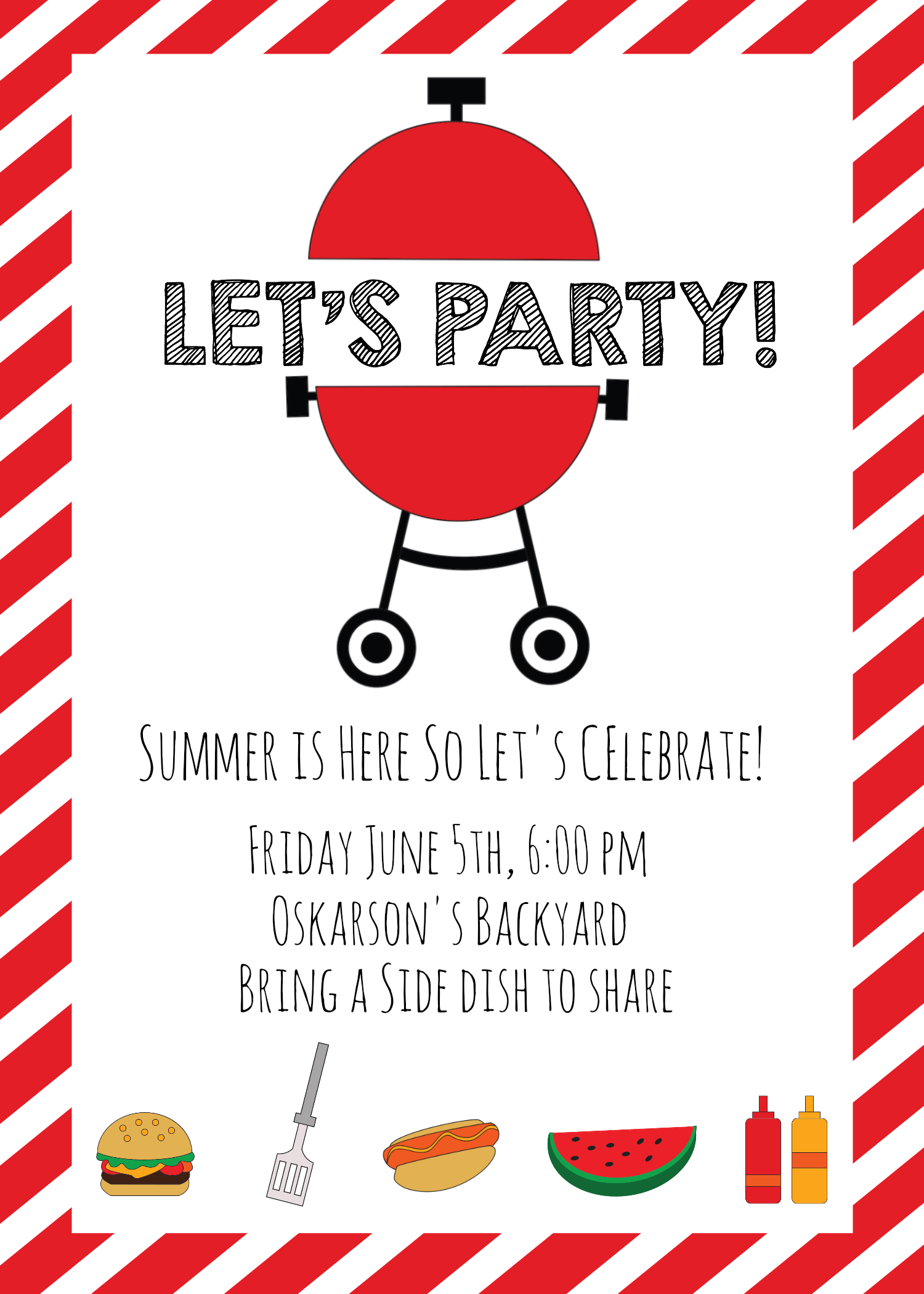 Summer BBQ Invitations and Ideas | Summer, Relief society and Birthdays