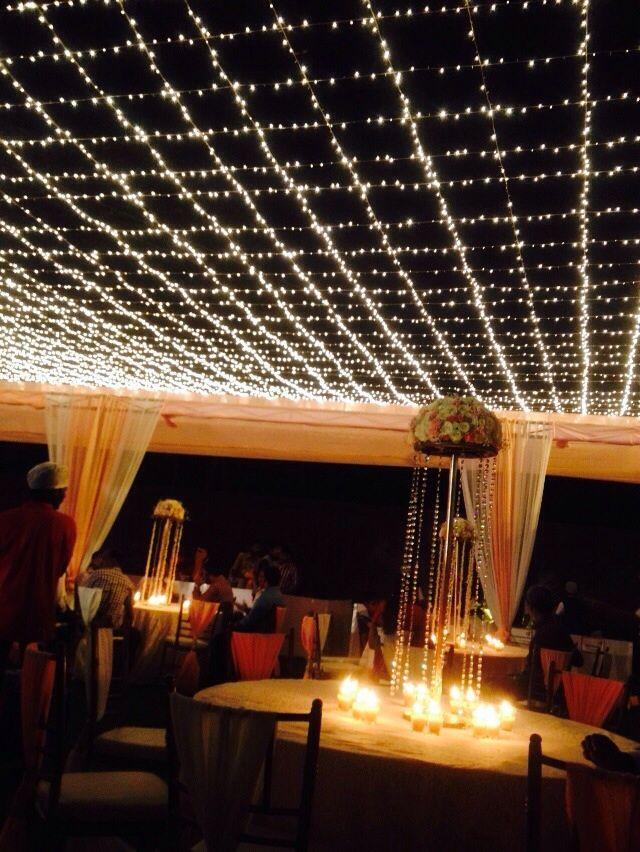 A #night under the #stars! #wedding #decor #lights #stars #candles ...