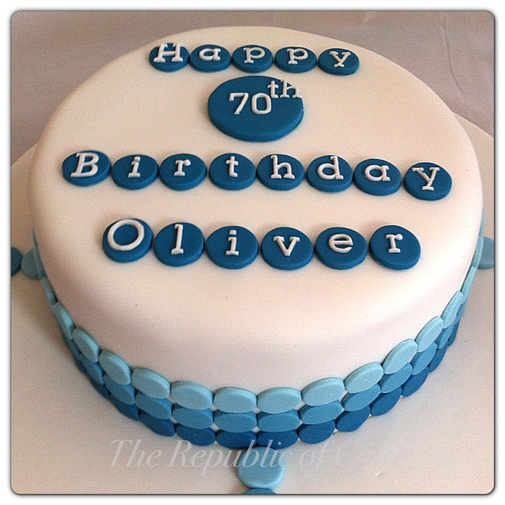 Blue male birthday cake featuring ombr spots wwwfacebookcom