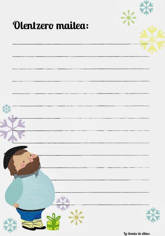 Carta imprimible para olentzero gratis | tarjetas | Pinterest ...
