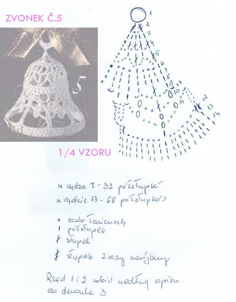 ZVONEK 5 | Häkelanleitungen Weihnachten | Pinterest | Schneeflocken ...