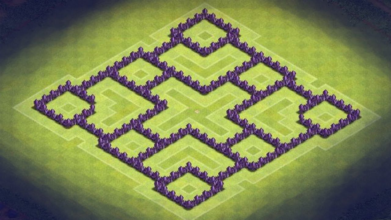 awesome Clash of Clans - Best TH7 Hybrid Base + Defense ...