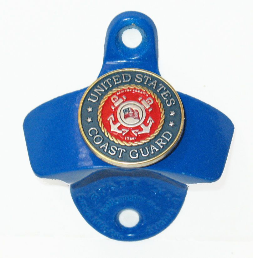 UNITED STATES MILITARY COAST GUARD PEWTER SEAL BOTTLE OPENER NEW