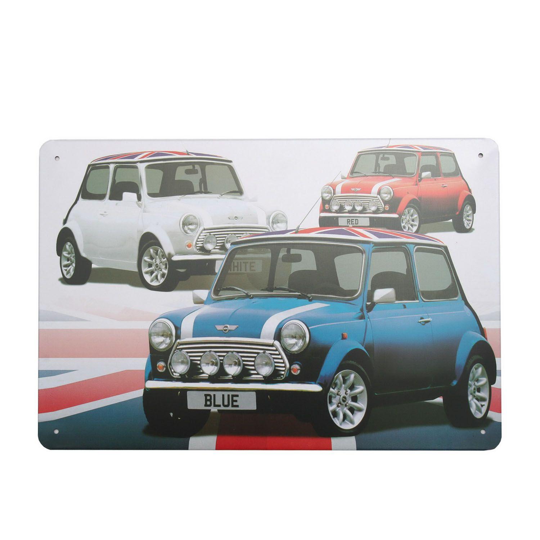 Cuadro De Metal Impreso Vintage 3 Color Mini 20x30 Con Imagenes