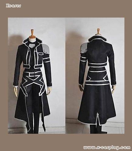 Sword Art Online SAO Kirito Kirigaya Cosplay Kostüm Schwarz Uniform Outfit Party
