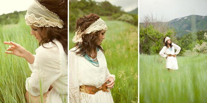 white dress in a field