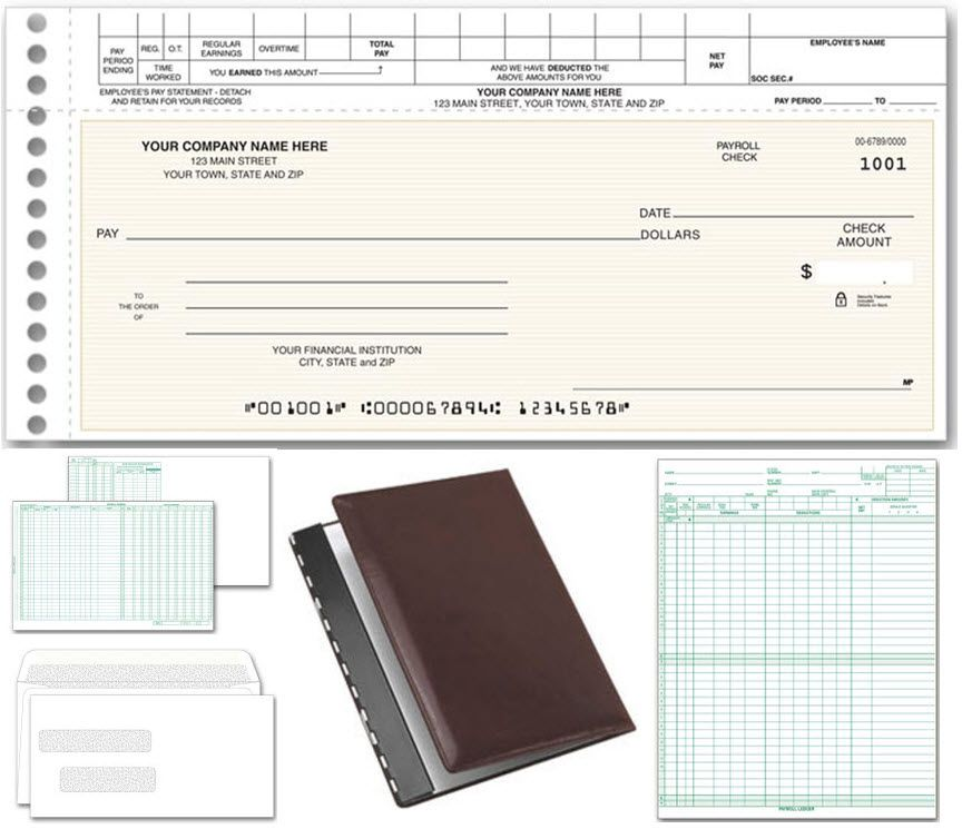 Topwrite Payroll System Item Number 125001 A complete payroll - pay stub format