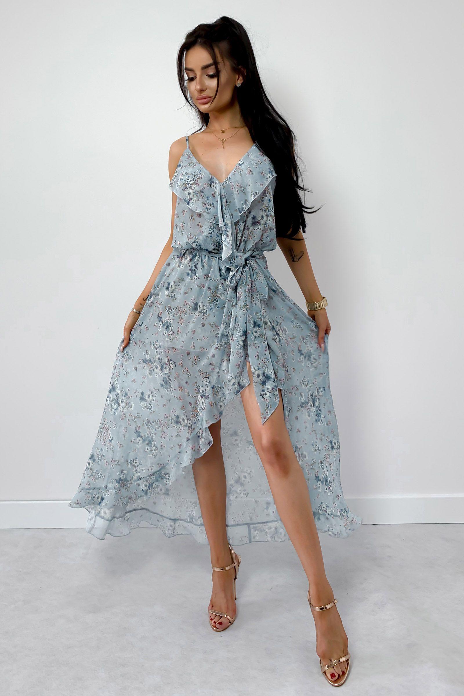 Letnia Sukienka Maxi Cassandra Dresses Fashion High Low Dress