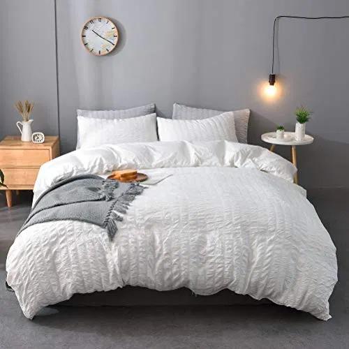 M And Meagle 3 Pieces Textured Duvet Cover White Set Deals Furniturev Com Quality Bedding Textured Duvet Cover White Duvet