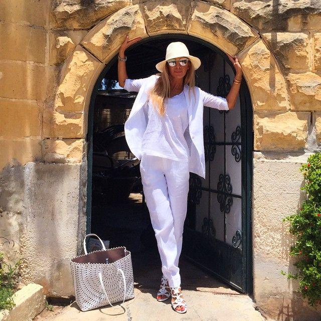 White linen suit