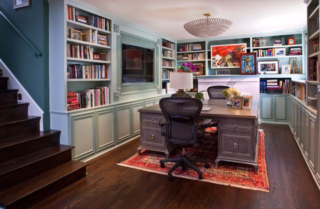 His And Hers Lifestyle Home Basement Home Office Home Library