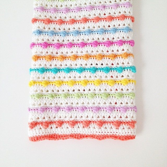 Make This Lovely Bobble Stitch Blanket Pattern With This Easy To