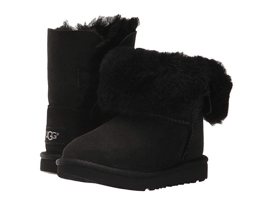 UGG Kids Bailey Button II (Toddler/Little Kid) Girls Shoes Black #uggbootsoutfitblackgirl