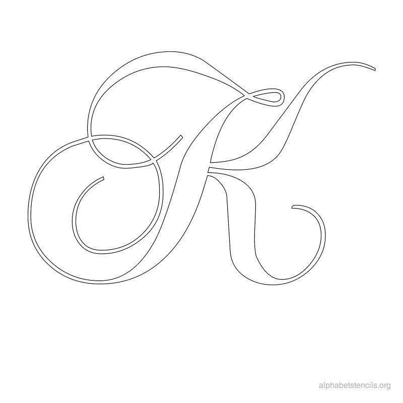 Alphabet Stencils Calligraphy K