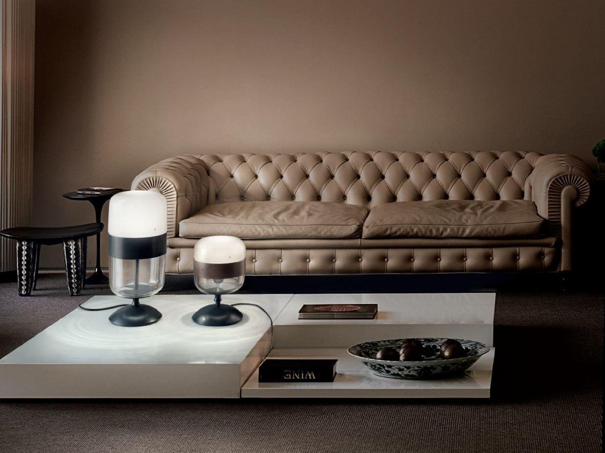Direct Indirect Light Blown Glass Table Lamp Futura Lt Futura Collection By Vetreria Vistosi Design Hangar Design Group Vistosi Table Lamp Design Table Lamp