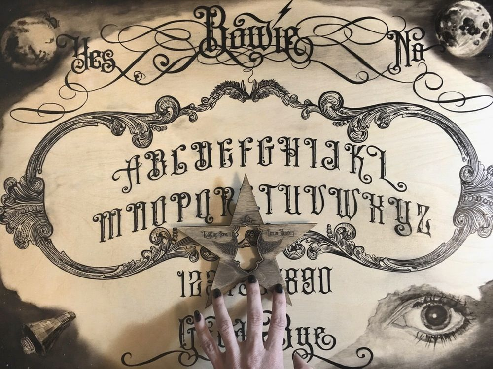 Bowie Ouija Board Print on Paper with Planchette